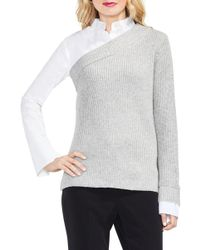 Vince Camuto - Mix Media Layered Jumper - Lyst