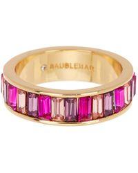 BaubleBar Allese Crystal Baguette Ring - Size 7 - Pink