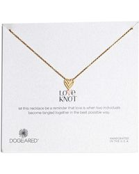 Dogeared - Love Knot Necklace - Lyst