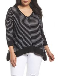 Sejour - V-neck Swing Pullover (plus Size) - Lyst