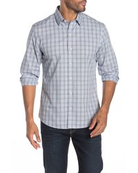 Zachary Prell Plaid Long Sleeve Shirt - Blue