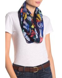 Tommy Bahama Hibiscus Sketch Infinity Scarf - Blue
