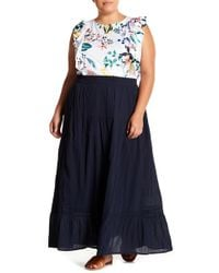 Joe Fresh - Ruffle Hem Maxi Skirt (plus Size) - Lyst