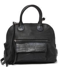 T Tahari Danielle Leather Satchel - Black