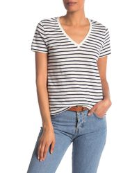 Madewell - Theresa Striped V-neck Tee - Lyst