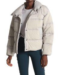 New Balance Select Cropped Heat Down Jacket - Natural