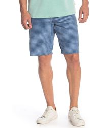 Tommy Bahama Island Check Seersucker Shorts - Blue