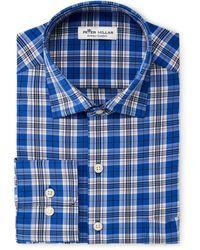 Peter Millar Plaid Woven Shirt - Blue
