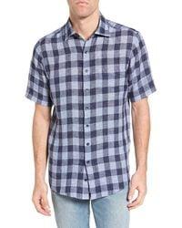 Rodd & Gunn Windwhistle Check Short Sleeve Original Fit Shirt - Blue