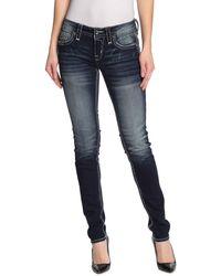 Rock Revival Henna Embellished Skinny Jeans - Blue