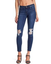 Tractr - Destructed Basic Skinny Jeans - Lyst