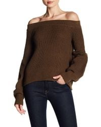 Haute Rogue - Boxy Off-the-shoulder Sweater - Lyst