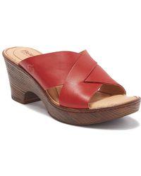 ea564c9352f Lyst - Born Carmo Leather Slingback Platform Sandal in Red