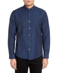 Theory - Rammy Trim Fit Linen & Cotton Sport Shirt - Lyst