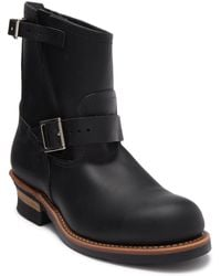 Red Wing Engineer Buckle Leather Boot - Black