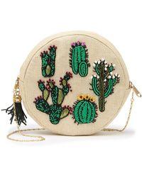 G-Lish Cactus Circular Beaded Pouch - Multicolor