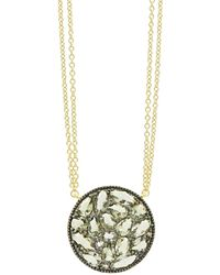 Freida Rothman Rose Dor Disc Pendant Necklace - Multicolour