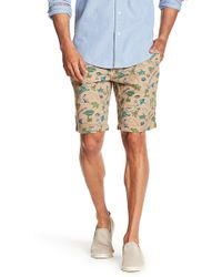 Tailor Vintage Tropical Print Dobby Walking Shorts - Multicolor