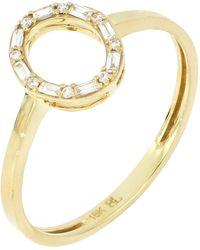 Bony Levy 18k Yellow Gold Gatsby Diamond Open Oval Ring - Metallic