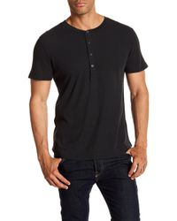 7 For All Mankind - Short Sleeve Henley - Lyst