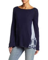 Caslon - Mixed Media Top - Lyst