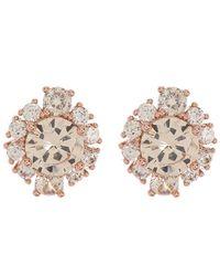 Marchesa Pave Crystal Stud Earrings - Multicolor