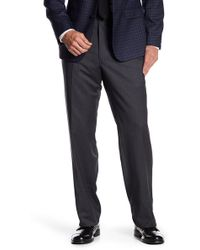 JB Britches - Torino Flat Front Trousers - Lyst