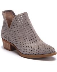 Lucky Brand - Brooklin Perforated Suede Bootie - Lyst