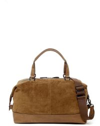Frye Chris Suede Overnight Duffle - Brown