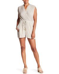 Lucky Brand - Stripped Wrap Romper - Lyst