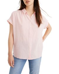 Madewell Central Gingham Check Shirt - Pink