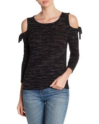 Lucky Brand - Cold Shoulder Knit Shirt - Lyst