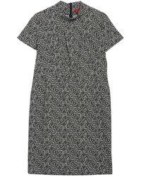 HUGO Kirsi Mock Neck Short Sleeve Dress - Black