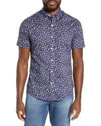 Bonobos Riviera Short Sleeve Slim Fit Shirt - Blue