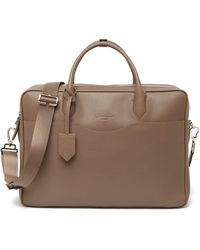Longchamp Top Handle Leather Briefcase Bag - Brown