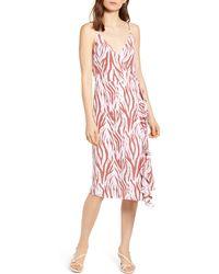 Rails Iris Sleeveless Ruffled Wrap Dress - Multicolour