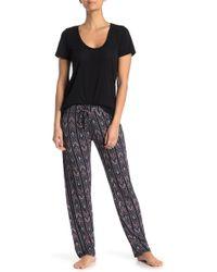 Jessica Simpson Geometric Sleep Pants - Black