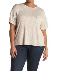 Lush Crew Neck Short Sleeve Pocket T-shirt - Natural
