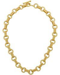 Karine Sultan - Round Link Necklace - Lyst