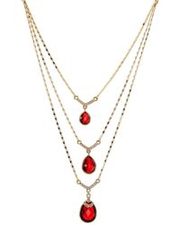 Carolee | Multi-row Drop Stone Necklace | Lyst