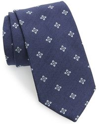 Strong Suit - Medallion Linen & Silk Tie - Lyst