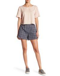 Native Youth - Brushed Herringbone Checkered Shorts - Lyst