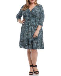 Karen Kane - Cascade Faux Wrap Dress - Lyst