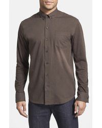 W.r.k. - 'reworked' Slim Fit Heathered Sport Shirt - Lyst