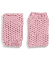Trouvé Trouv? Faux Fur Lined Hand Warmers - Pink