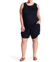 Joe Fresh - Linen Blend Cuff Shorts (plus Size) - Lyst
