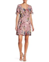 Blu Pepper - Floral Tie Sleeve Dress - Lyst