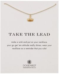 Dogeared - 14k Gold Vermeil Take The Lead Regal Crown Necklace - Lyst
