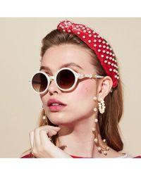 Lele Sadoughi Raspberry Pearl Knotted Headband - Pink