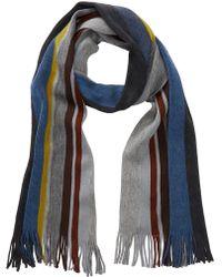 Tommy Bahama - Striped Wool Knit Scarf - Lyst
